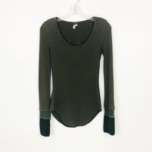 Free People Sunnie Valley Cuff Thermal Green S